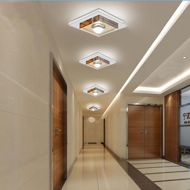 3 Watt Led Ceiling Light Fixture Crystal Glass Ceiling