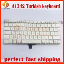 "A1342 Turkish Turkey TR TY keyboard for macbook 13.3"" white 2009 2010year MC207 MC516"