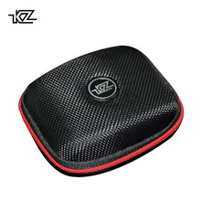 KZ High Quality Logo Storage Bag Package Accessories Headphone Case Hard Box for Ear Pads USB Cable Charger Earphone Black Only