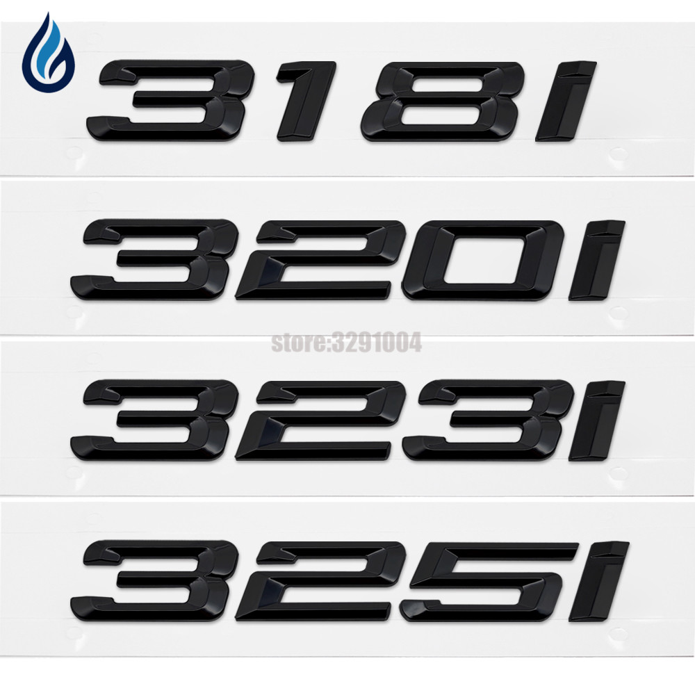 Car Trunk Rear Emblem Logo Sticker Badge Letter <font><b>318i</b></font> 320i 323i 325i For <font><b>BMW</b></font> 3 Series F30 F31 F34 E21 <font><b>E30</b></font> E36 E46 E90 E91 E92 E93 image