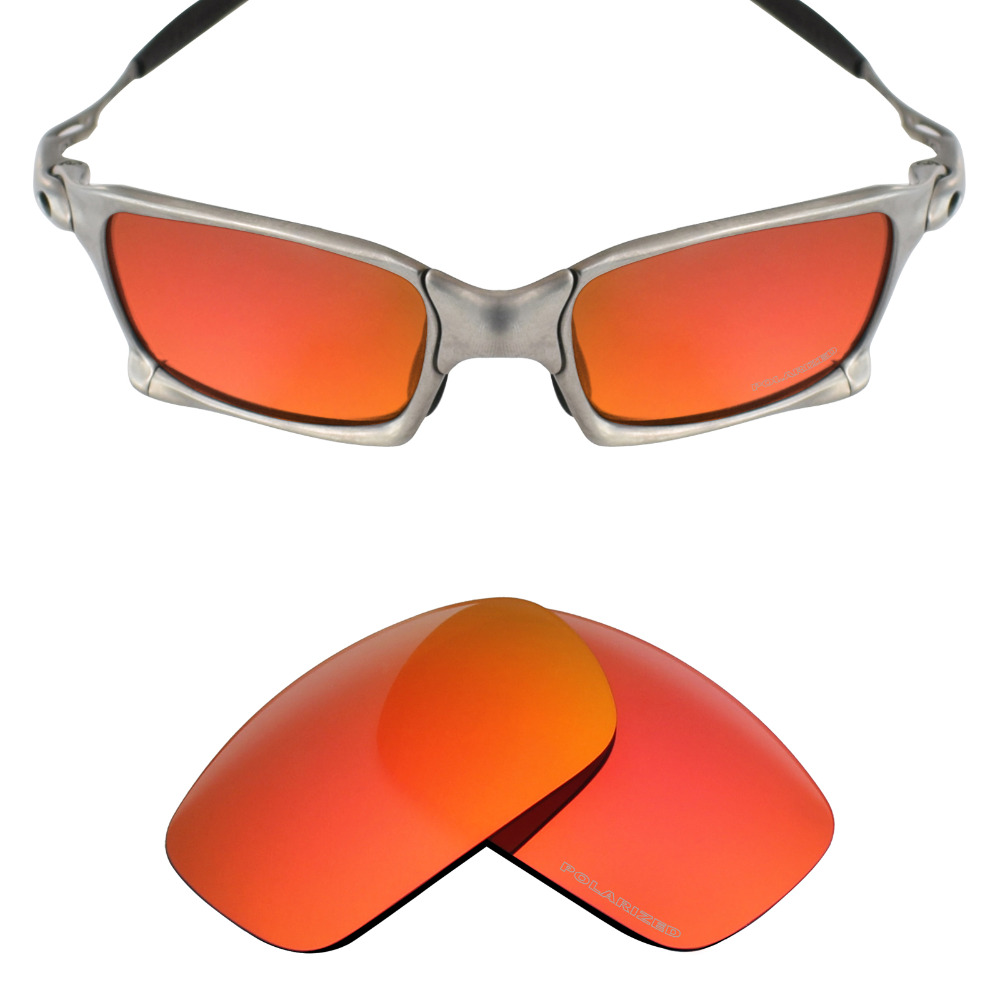 Mryok+ POLARIZED Resist SeaWater Replacement Lenses For Oakley X Squared X-Metal Sunglasses Fire Red