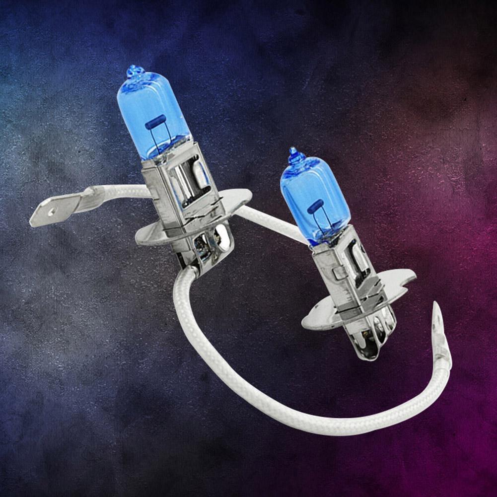 Ксеноновые галогенные автомобильные супер белые лампы H3, 2 шт., 100 Вт, светильник ЛОБНЫЙ фонарь, 12 В постоянного тока