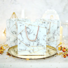 AVEBIEN 20pcs New Marble Color Wedding Candy Box Gift Bag Kraft Paper Gift Box Chocolate Boxes Cookies Bag the Mall Shopping Bag(China)