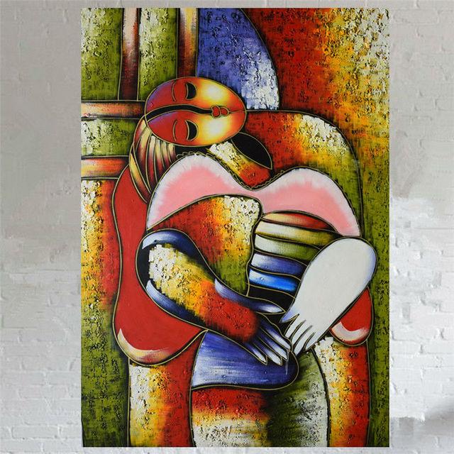100% Handmade pittura a olio su tela astratta Famoso dipinto di ...