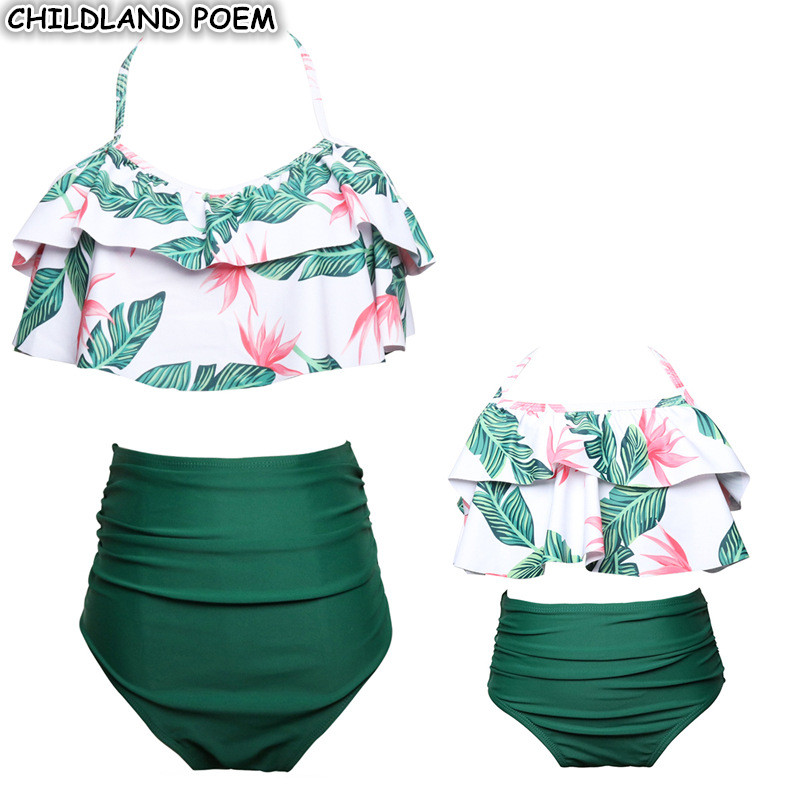 Mother Daughter Swimwear Family look Mommy and Me Bikini Bahitng Swimsuit Brachwear Family Matching Clothes Mom Daughter Clothes