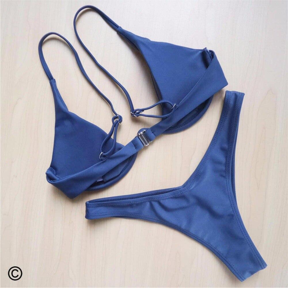 HTB1nUYhsb5YBuNjSspoq6zeNFXap Sexy V-bar Underwired Bikini 2019 Female Swimsuit Women Swimwear Two-piece V shape Wire Bikini set Bather Bathing Suit Swim V439