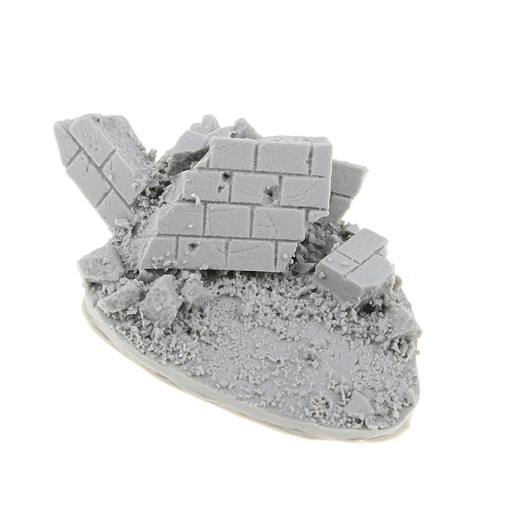 1//35 Resin Figure Kit Building Ruins Miniature War Game Accessory Unpainted
