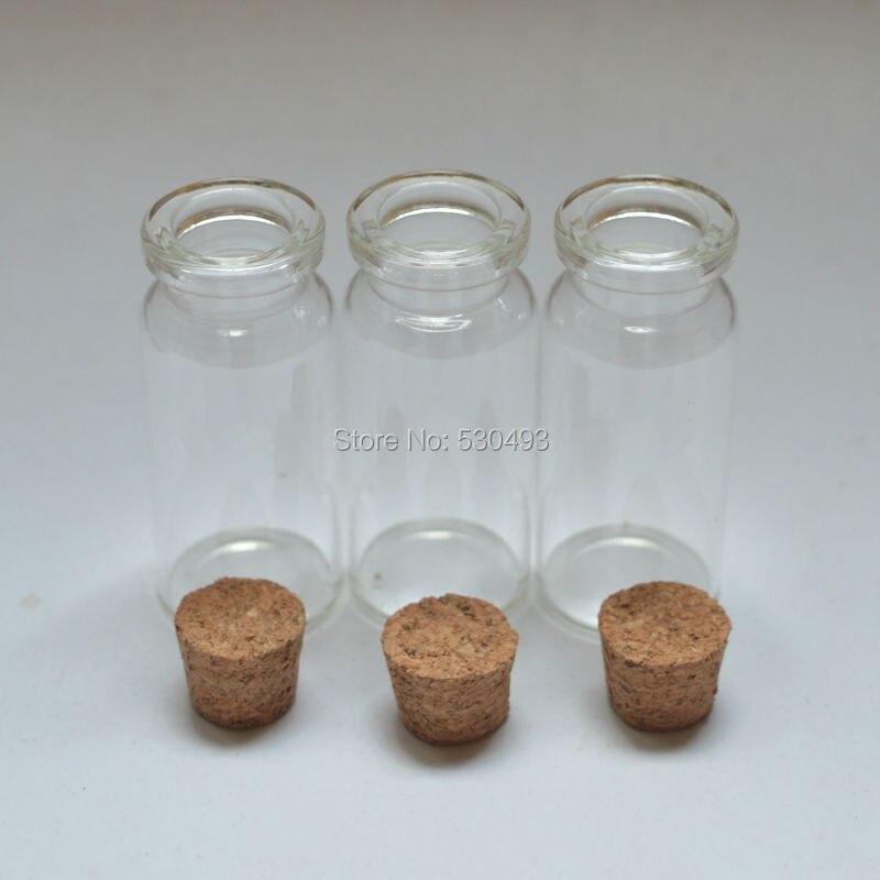 22*50mm vide mignon Message bouteille en verre Mini souhaitant bouteilles en verre bouchon de liège 10 ml flacons clairs 200 pcs/lot-in Trousses De Toilette from Beauté & Santé    2