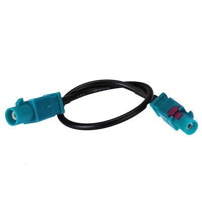 Kabel RG174 15 cm pigtail jumper dengan Fakra Z ganda plug konektor lurus  laki-laki 3c0021822a