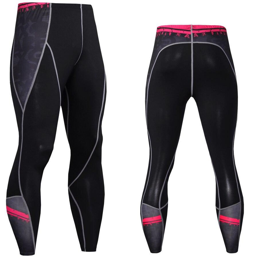 2017 Hot Sale Joggers Men Fashion 3D Pants Leggings Quick Dry Bodybuilding Fitness Elastic Trousers Skinny MMA Compression Pants