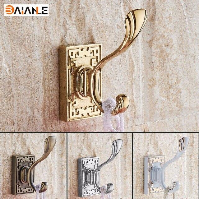 Antique Zinc Alloy Clothes Hooks Wall Mounted Coat Hook, Bathroom Accessory  Handing Towel Clothes Single