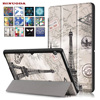 New Case For Huawei Mediapad T3 10 0 Tablet Flip Folio Printing PU Leather Stand Cover