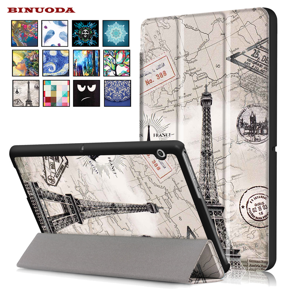 New Case for Huawei Mediapad T3 10.0 Tablet Flip Folio Printing PU Leather Stand Cover Cases For Huawei T3 10.0 Coque Capa flip pu leather case for huawei t1 10 9 6 t1 a21w tablet case for huawei mediapad t1 t1 a21l t1 a23l honor note smart cover