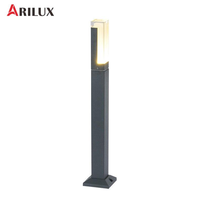 ARILUX 10 w LED Jardin Lampe De Pelouse En Plein Air Étanche Moderne En Aluminium Pilier Lumière Paysage Parc Rue Lumière AC220-240V