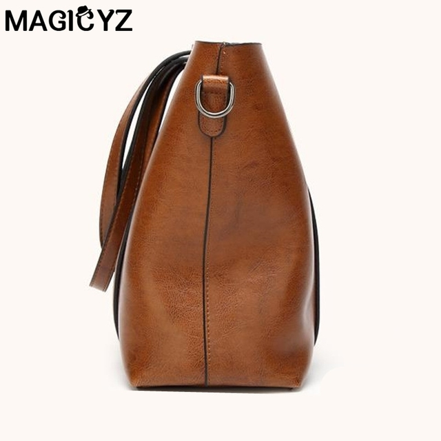 Women bag Women's PU Leather Handbags Luxury Lady Hand Bags With Purse Pocket Women messenger bag Big Tote 3