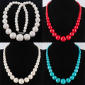 Free shipping 8~20MM Round Beads Necklace Strand 19 Inches Jewelry PBH025