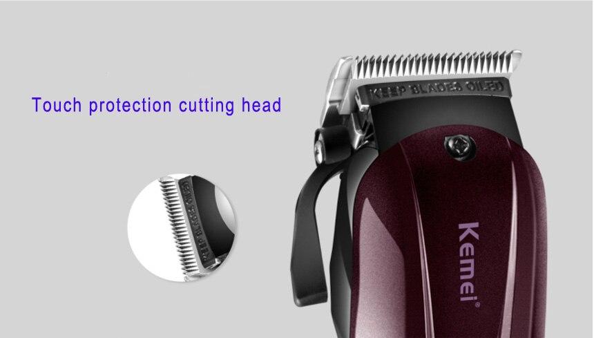 2019 Kemei professionnel électrique tondeuse cheveux puissant tondeuse cheveux rasage machine cheveux coupe perle électrique rasoir - 4