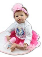 55CM Baby Reborn Dolls Princess Girl Boy Toys Silicone Dolls Christmas Birthday New Year Gifts Baby Playmates Growth Partners