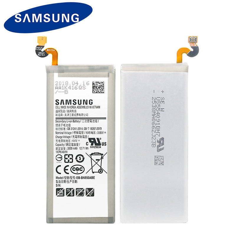 For Note Battery Original 100 N950f New N950 Samsung 8