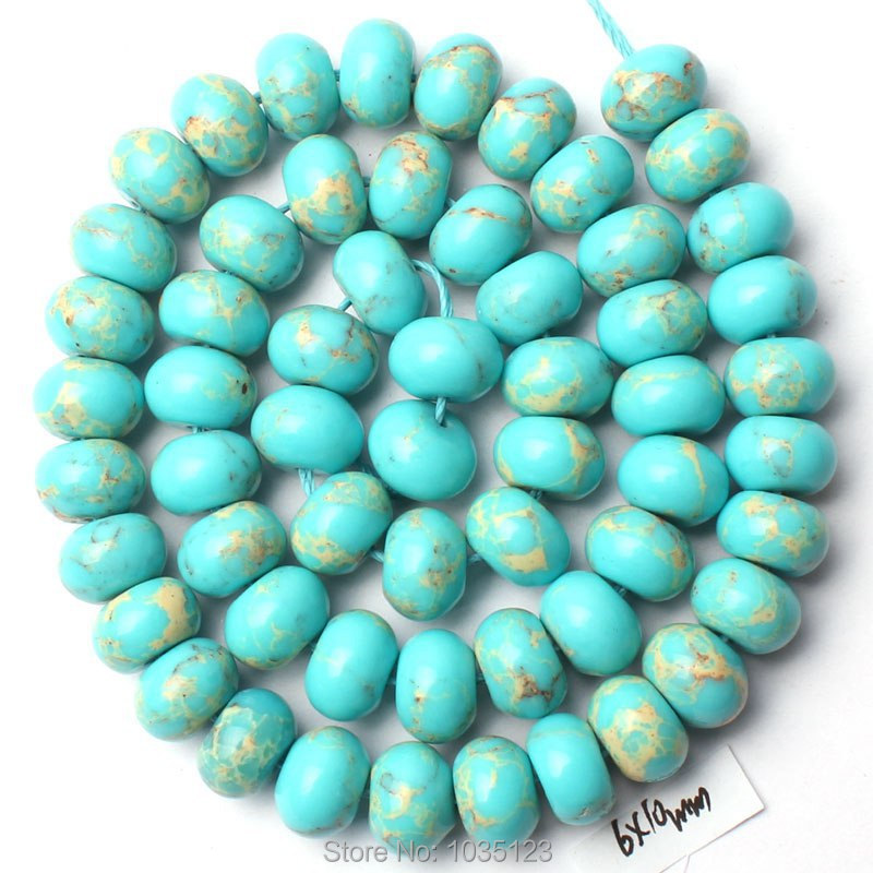 Free Shipping 6x10mm Light Blue Color Lace Agates Rondelle Shape Gem Loose Beads Strand 15 DIY Creative Jewellery Making w2793
