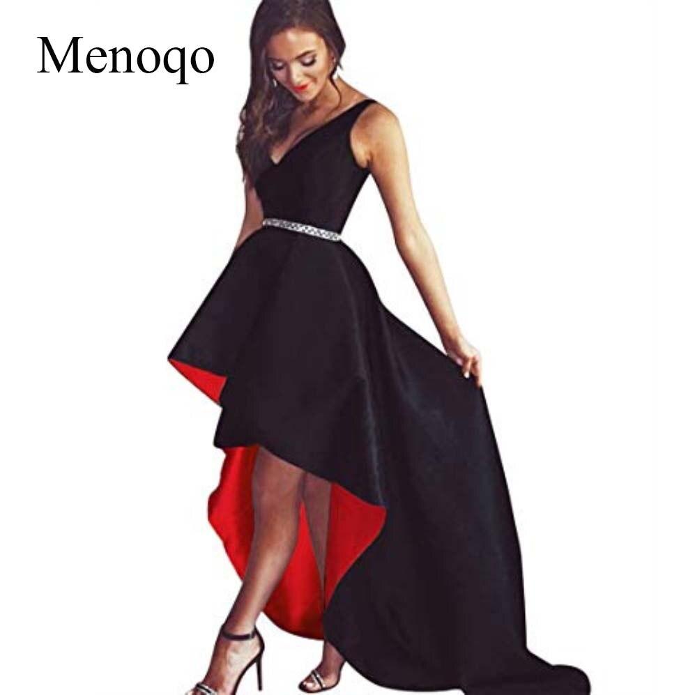 2fd9a8f135ba Menoqo nueva llegada 2019 vestido de noche Hi-Lo increíble vestidos de  graduación con cuentas ...