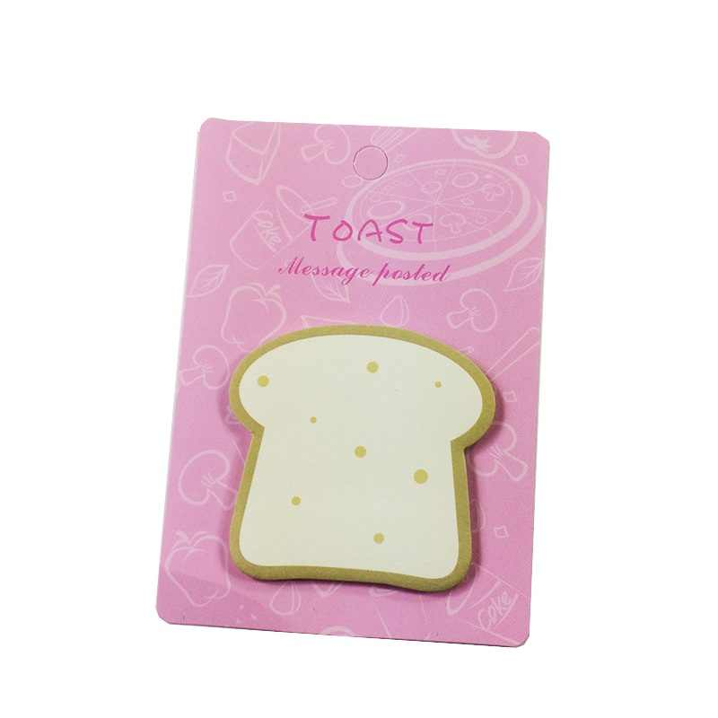 1 pack/lote Kawaii lindo libro de notas de desayuno pan Sushi N veces DIY Bloc de notas etiqueta adhesiva notas de oficina escolar suministros