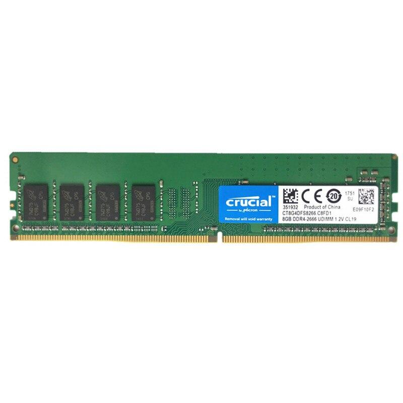 8 gb ram, ddr4, 2133mhz, 2400mhz, 2666mhz, 288-pin para desktop