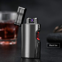 Latest Laser Touch Sensor Cigarette Lighter Rechargeable USB Charging Lighters Spare Electric Wire For Gifts Plasma
