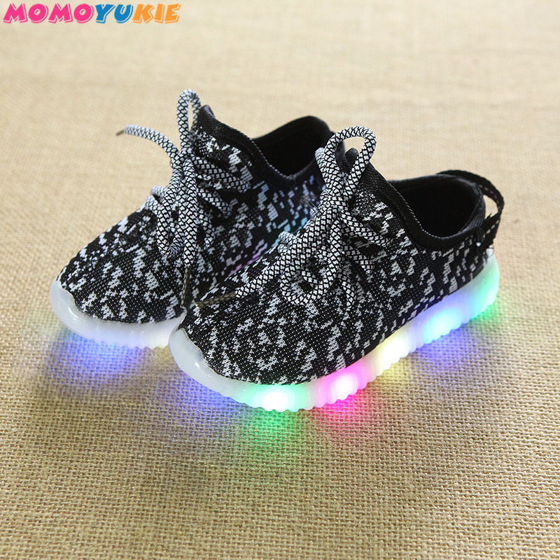 цена на Children Led Light Shoes Unisex Casual Sports for Kids Boys & Girls Sneakers Lace Up Shoe for boy girl children's