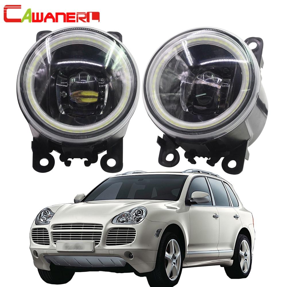 Cawanerl For Porsche Cayenne 955 2002 2015 Car Styling 4000LM LED Bulb H11 Fog Light Angel