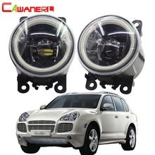 Cawanerl для Porsche Cayenne 955 2002- стайлинга автомобилей 4000LM светодиодный лампы H11 туман светильник Ангел глаз DRL Дневной светильник 12V