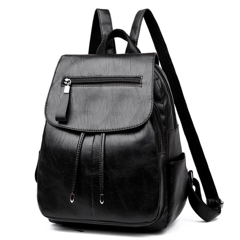 Mini Pu Leather Shoulder Zipper Travel Backpack School Bags For Teenager Girls Bags Women Mochila Feminina Sac A Dos Main