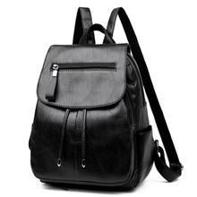 e1b825563 Mini-pu Bolsa De Couro Com Zíper Mochila de Viagem Mochilas Escolares para  Adolescente Meninas