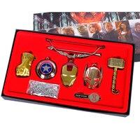 Avengers Infinity War Thanos Keychain Thor Ragnarok Axe Stormbreaker Keyring Vintage Key Chain Mjolnir Marvel with Beautiful Box