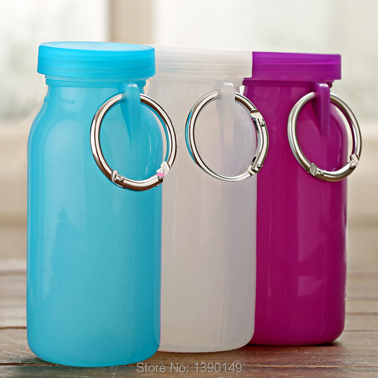 Outdoor Candy color collapsible plastic cup water bag bubi