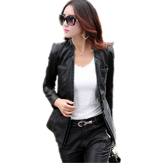 70a683d5be012 Hot sale winter Leather jacket 2018 new fashion Korean Casual PU Plus Size  women jackets slim motorcycle coats C126