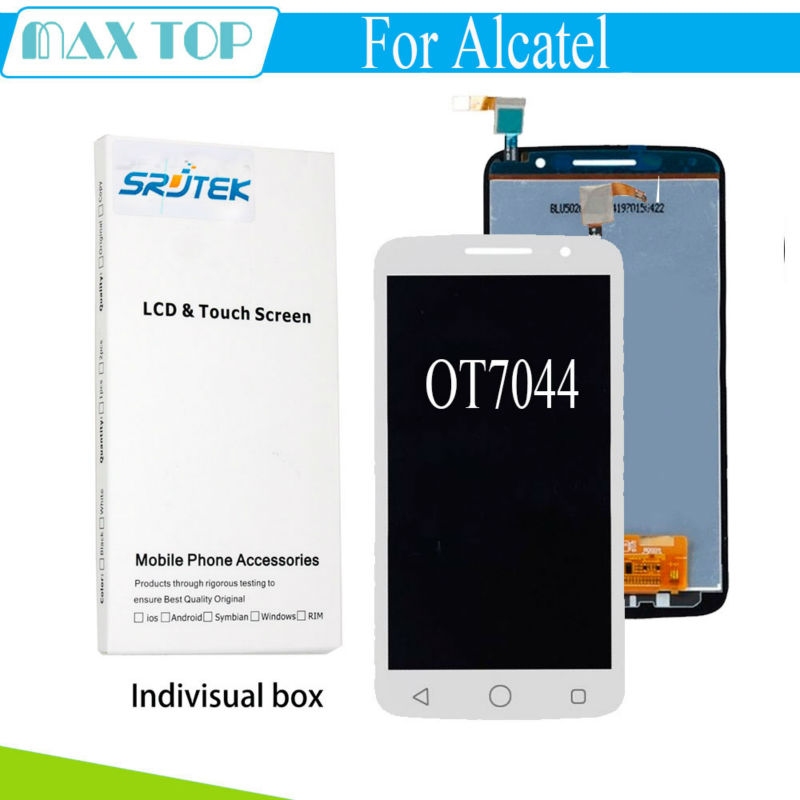 For Alcatel One Touch Pop 2 Premium 7044 7044Y 7044K 7044A 7044x LCD Display Touch Screen
