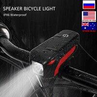 자전거 라이트 usb 충전식 자전거 라이트 방수 전면 핸들 바 자전거 led 라이트 사이클링 램프 전기 경적 손전등