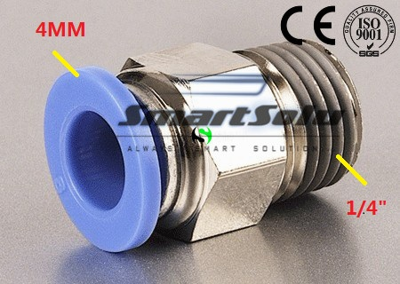 """100 Teile/los Freies Verschiffen Pc Mm-1/4 """"pc04-02 Pneumatische 4mm Rohr Push In 1/4"""" Quick Connect Air Fitting Pc4-02 Schlauchanschluss"""