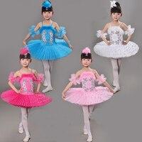 Multicolor Child Ballet Dance Dress Girl Swan Costume Feather Kids Ballet Dance Costume Stage Professional Ballet