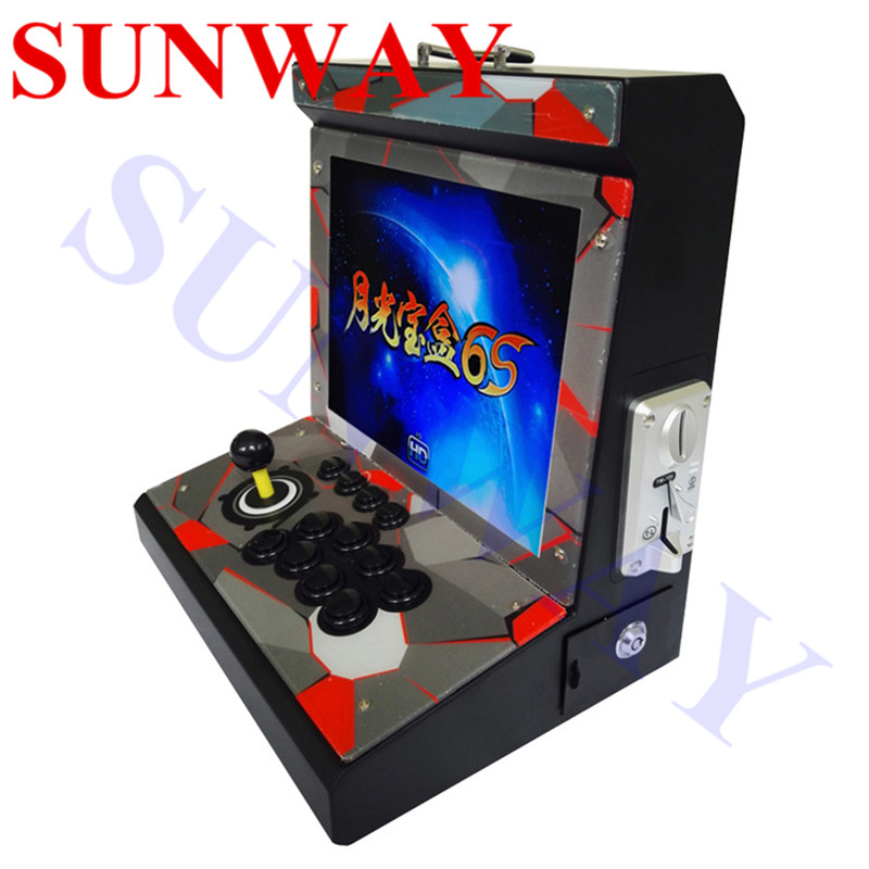 15 inch Arcade Mini bartop game machine Arcade Video Game Console 1299 in 1/1388 in 1 Pandora's Box 5S/6S with coin selector