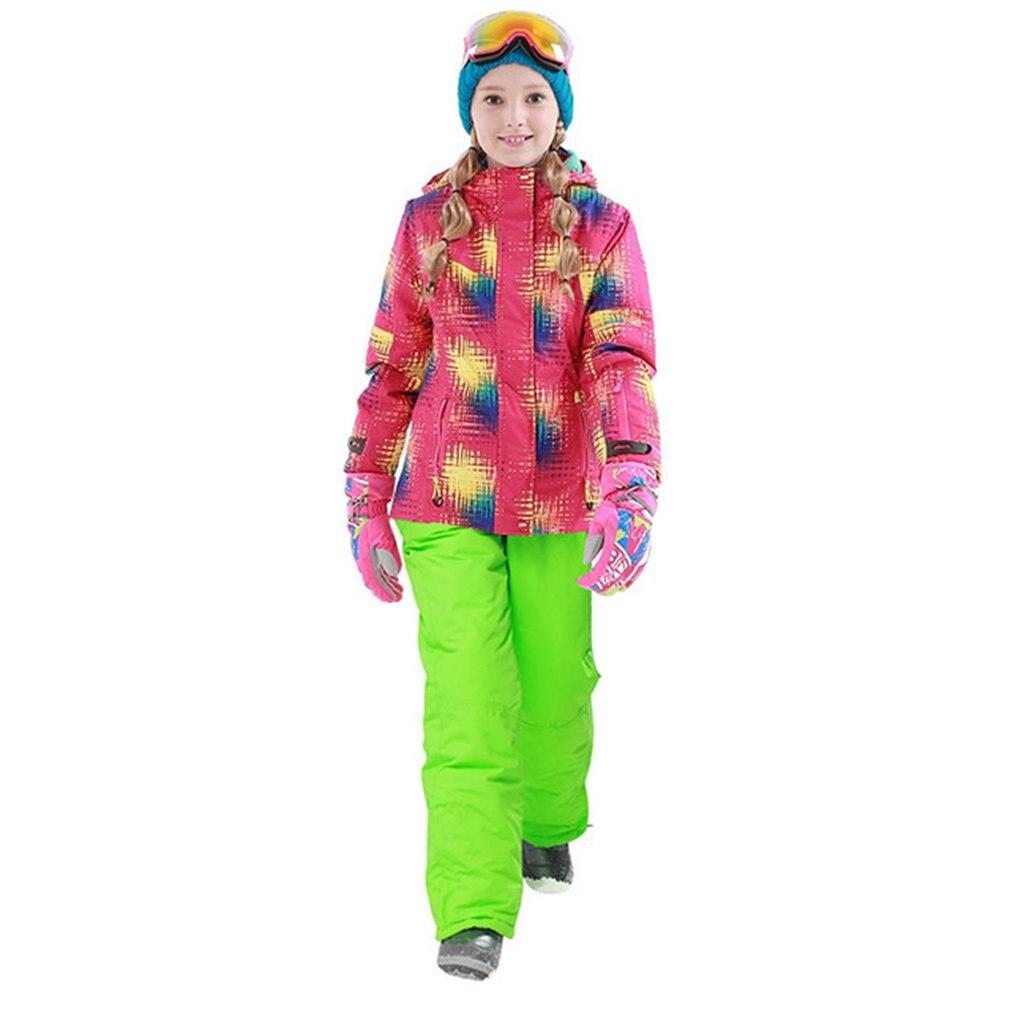 Phibee garçons/filles combinaison de Ski pantalon imperméable + veste ensemble Sports d'hiver vêtements épaissis costumes de Ski pour enfants 2018
