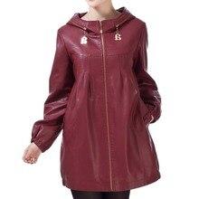 Chaud-vente veste en cuir femmes de grande taille 5XL 2014 long plus la taille vêtements en cuir femmes survêtement dames vestes et manteaux