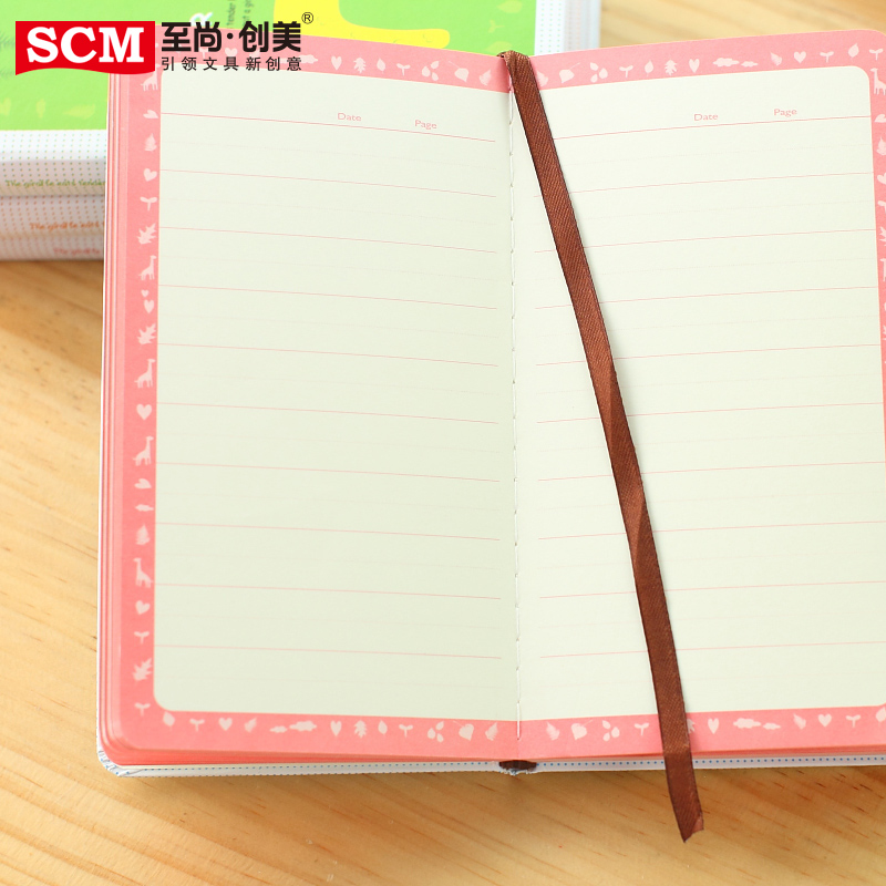 SCM Fashion Deer Notebook Cute Diary Notepad A6 School Office Supplies Writing Stationery Paper Hard Copybook Free Shipping ann notebook korea school supplies stationery cute happy graffiti leather surface solid color printing loose leaf diary notepad
