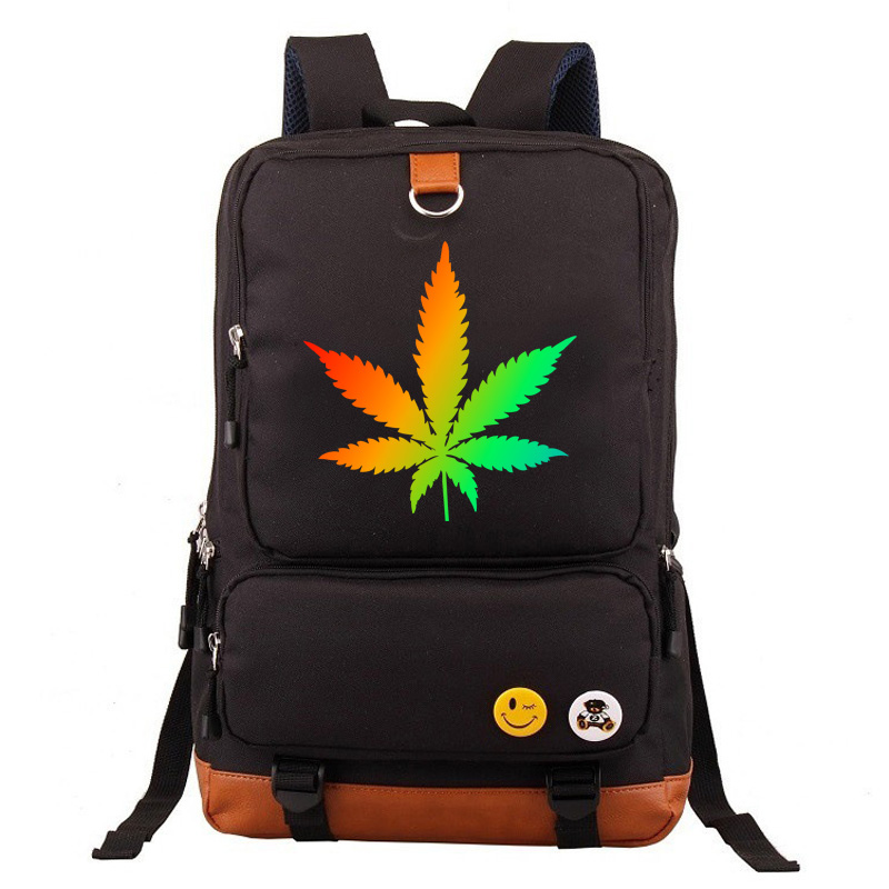 Spacious Backpacks with Cannabis Themed Designs Backpacks