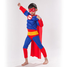 Childrens Superman Cosplay Hero Anime Performance Series Fantasy Comic Movie Carnival Party Purim Halloween