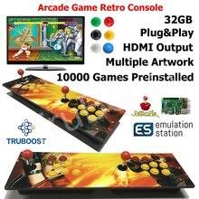2 لاعبين مزدوج التوت بي ممر لعبة ريترو وحدة التحكم متعددة خشبية الفني لوحة لعبة مثبتة مسبقا