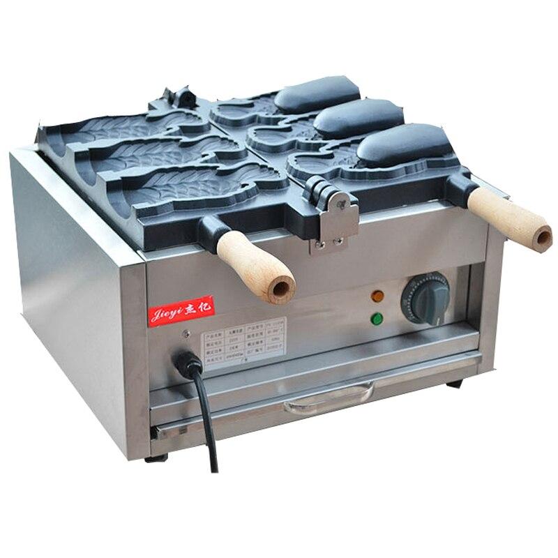 110/220V Commercial Electric Open Sea Bream 3pcs Fish Cake Machine  Bread Waffle Maker Non-stick Waffle Bread Machine thumbnail