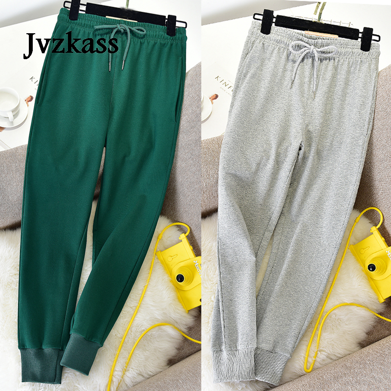 Jvzkass 2019  Small Feet Sports Pants Women Loose Spring And Autumn And Summer Thin Section Students Slim Casual Long Pants Z288