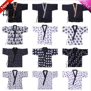 Униформа для еды в японском стиле, костюм для суши, куртка шеф-повара, одежда для ресторана, рубашка для готовки, кимоно, комбинезон, 2019